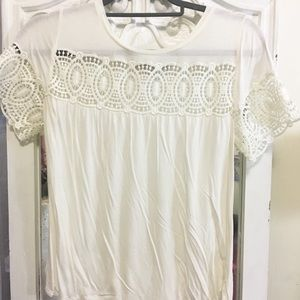 Like new lace LOFT tee size S